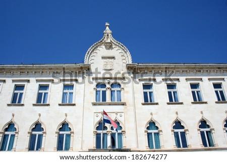 Old architecture in Trogir, Croatia - stock photo