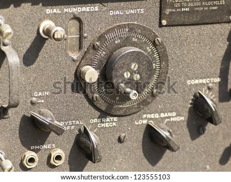 old army radio station - stock photo