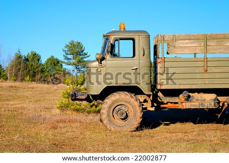 old army truck - stock photo