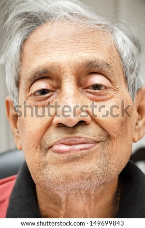 Old Asian Man - stock photo