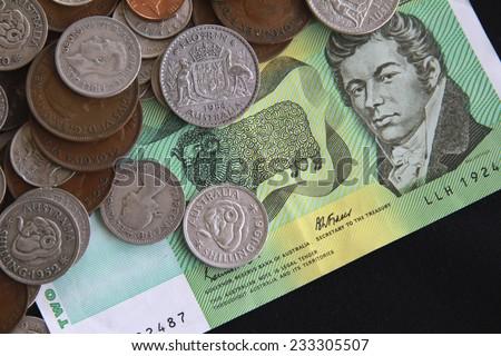 Old Australian Money - stock photo