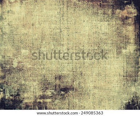 Old background with delicate abstract texture. With different color patterns: yellow (beige); brown; gray; black - stock photo