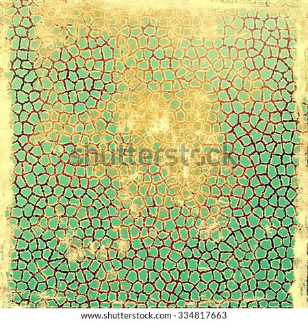 Old background with delicate abstract texture. With different color patterns: yellow (beige); brown; green; cyan - stock photo