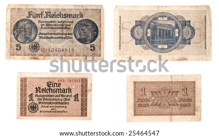 old banknotes - stock photo