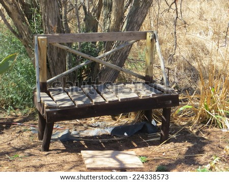 Old bench. - stock photo
