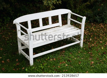 old bench in the park,vintage style - stock photo