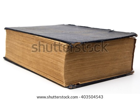 Old big closed book  - stock photo