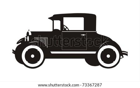 old black car - stock photo