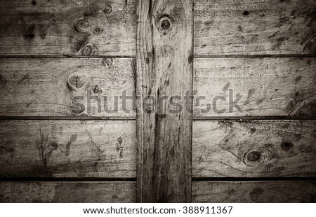 old black dirty wooden wall weathered barn wood background - stock photo