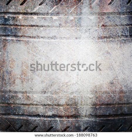 Old black tires border background - stock photo
