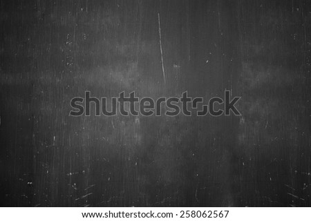 old blank chalkboard - stock photo