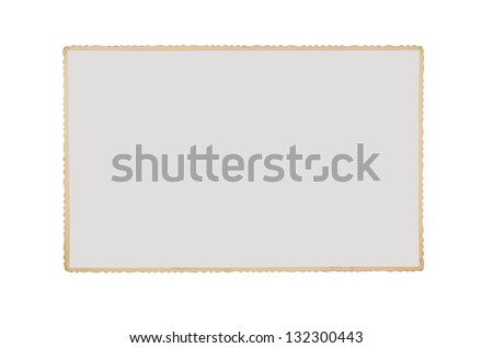 Old blank grunge photograph isolated on white background with clipping path for the inside of the frame - stock photo