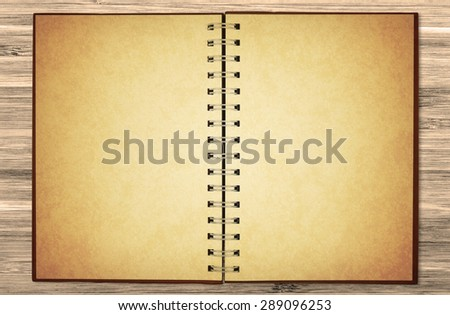 old blank notebook on chic table for your note - stock photo