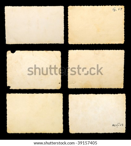 Old blank photographic paper - stock photo