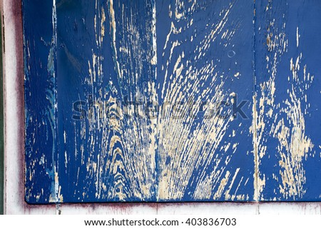 Old blue painted wall - stock photo
