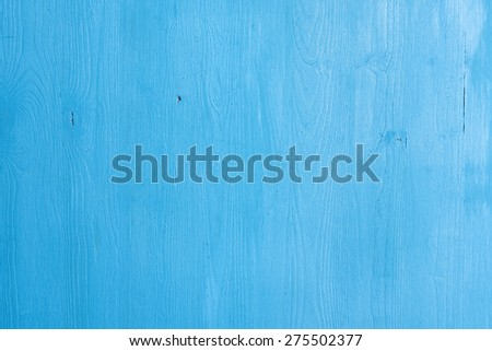 Old blue painted wood texture background close up - stock photo