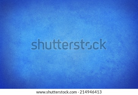 old blue paper background with vignette - stock photo