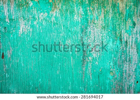 Old blue plywood. Texture, natural background - stock photo