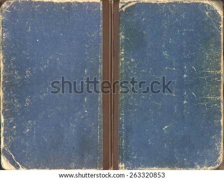 old blue shabby cover book - stock photo