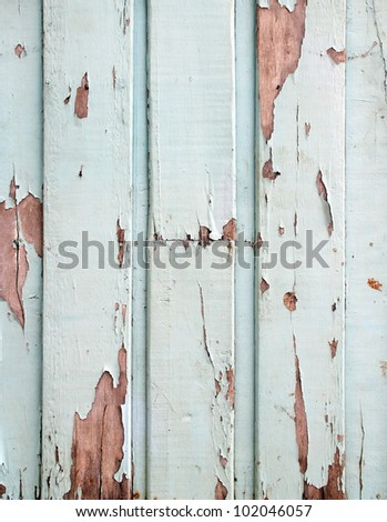 old blue wood wall background - stock photo