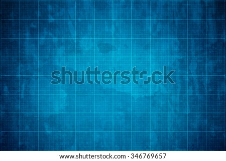 old blueprint background texture backdrop - stock photo