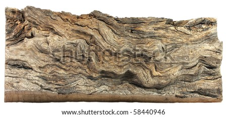 Old Board - isolated - stock photo