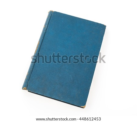 Old book (Ancient book) on white background - stock photo