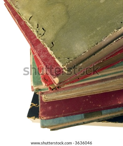 old book corners - stock photo