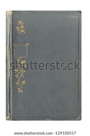 Old book. Cover. Background. - stock photo