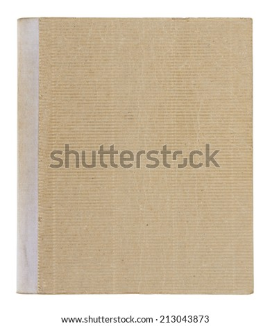 old book cover isolated on white background with clipping path - stock photo