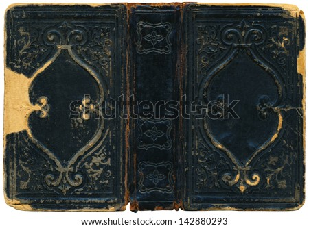 Old book cover surface - stock photo