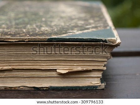 old book detail  - stock photo