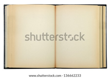 old book isolate include clipping path - stock photo