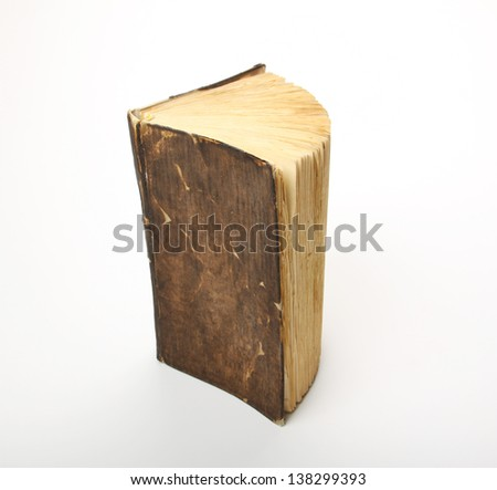 Old book, isolated on white - stock photo