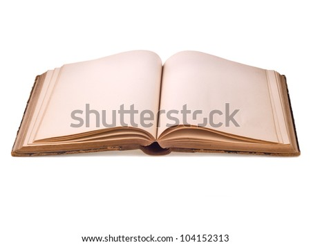 old book on white - stock photo