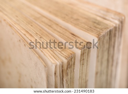Old book pages. - stock photo