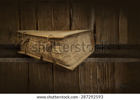 Old books. Clipping path - stock photo