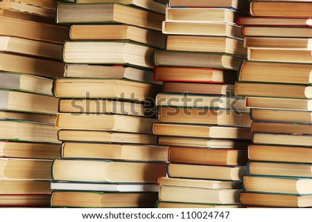 old books, close up - stock photo