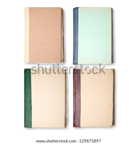 Old Books Cover - stock photo