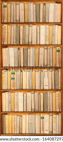 old books on the shelf  - stock photo