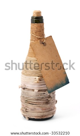 Old bottle - stock photo