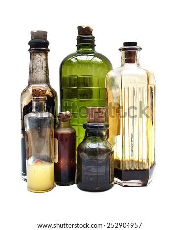 old bottles - stock photo