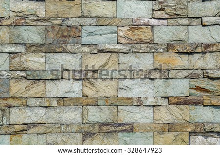 Old boulder wall background - stock photo