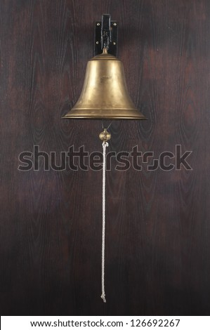 Old brass bell - stock photo