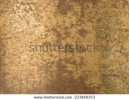 old brass plate texture background - stock photo