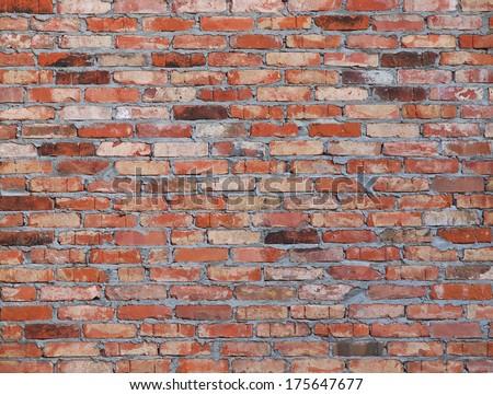 old brick          - stock photo