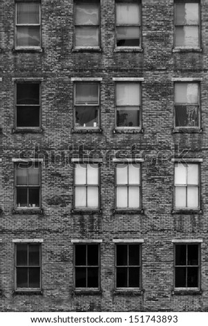 Old Brick Building - A little like Physical Graffiti! - stock photo