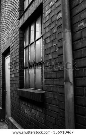 Old brick building. Old factory - stock photo