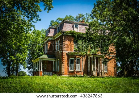 Old Brick Mansion - stock photo