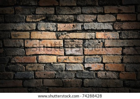 Old brick wall background texture - stock photo